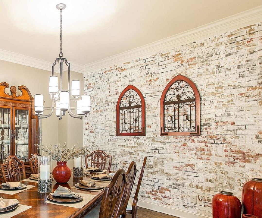 1 Magnificent White Dining Room Ideas Look Gorgeous With the Uniqueness Of Brick Walls