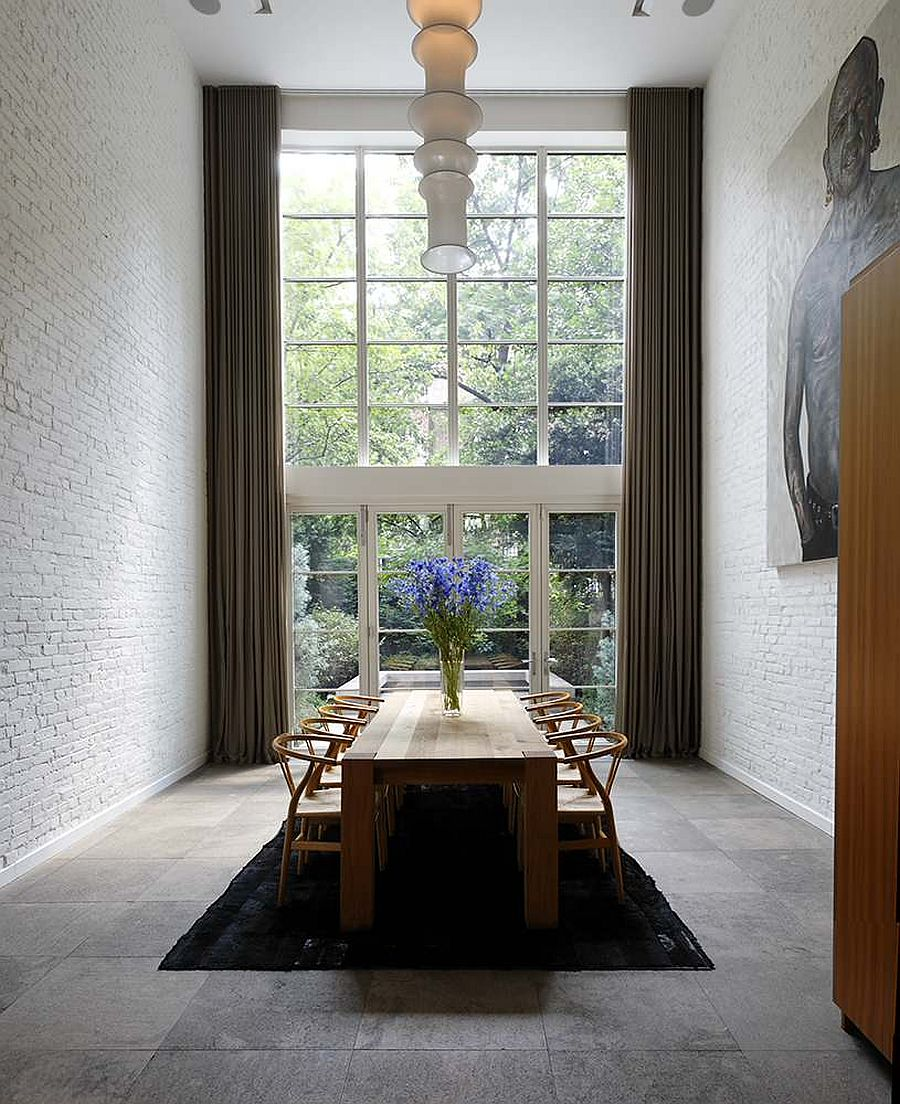 3 Magnificent White Dining Room Ideas Look Gorgeous With the Uniqueness Of Brick Walls