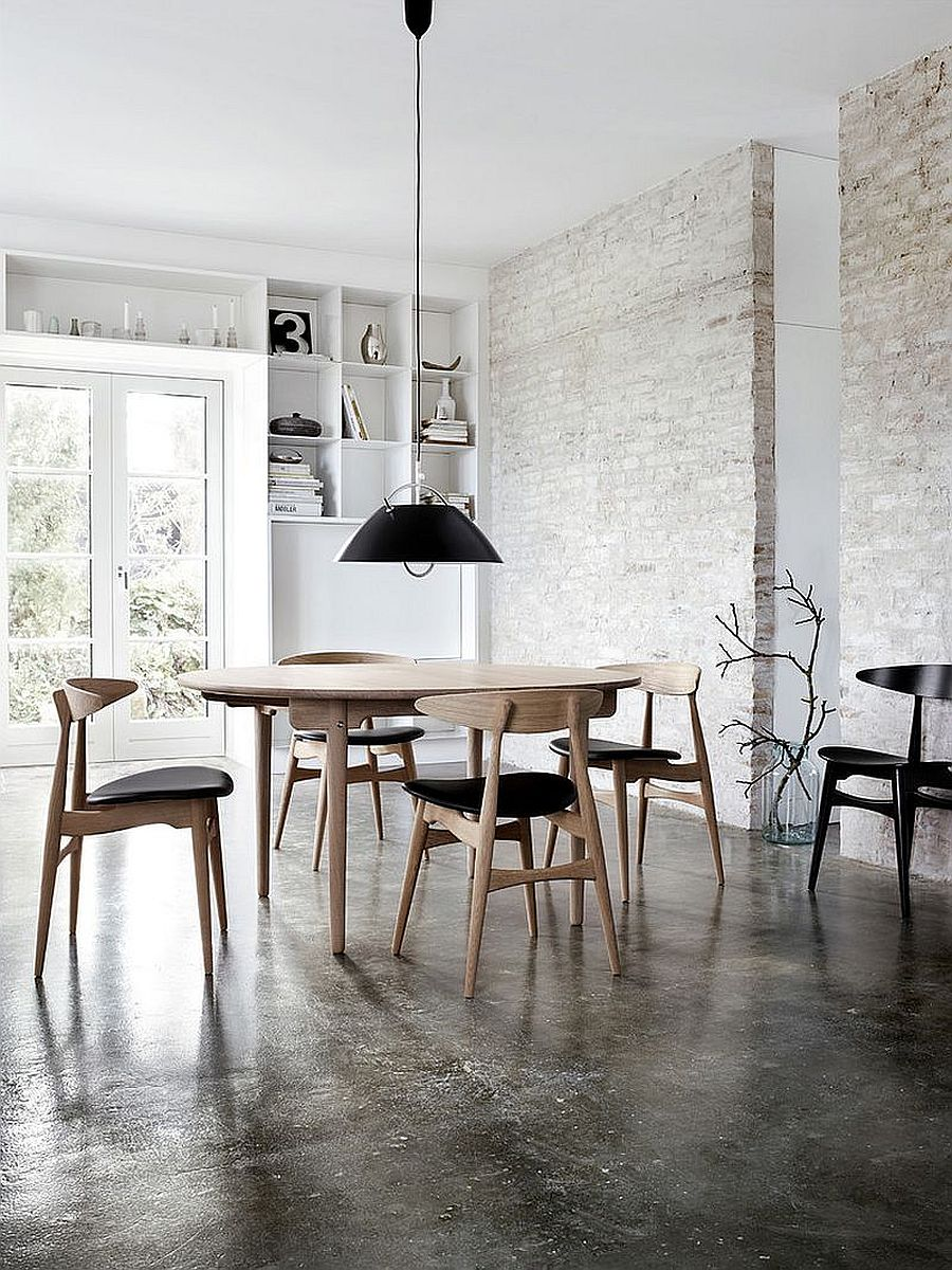 4 Magnificent White Dining Room Ideas Look Gorgeous With the Uniqueness Of Brick Walls