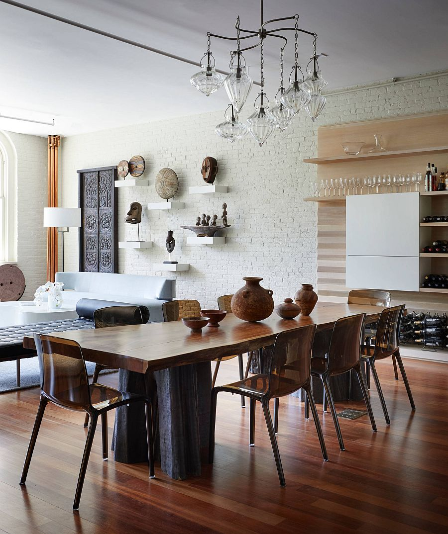 5 Magnificent White Dining Room Ideas Look Gorgeous With the Uniqueness Of Brick Walls