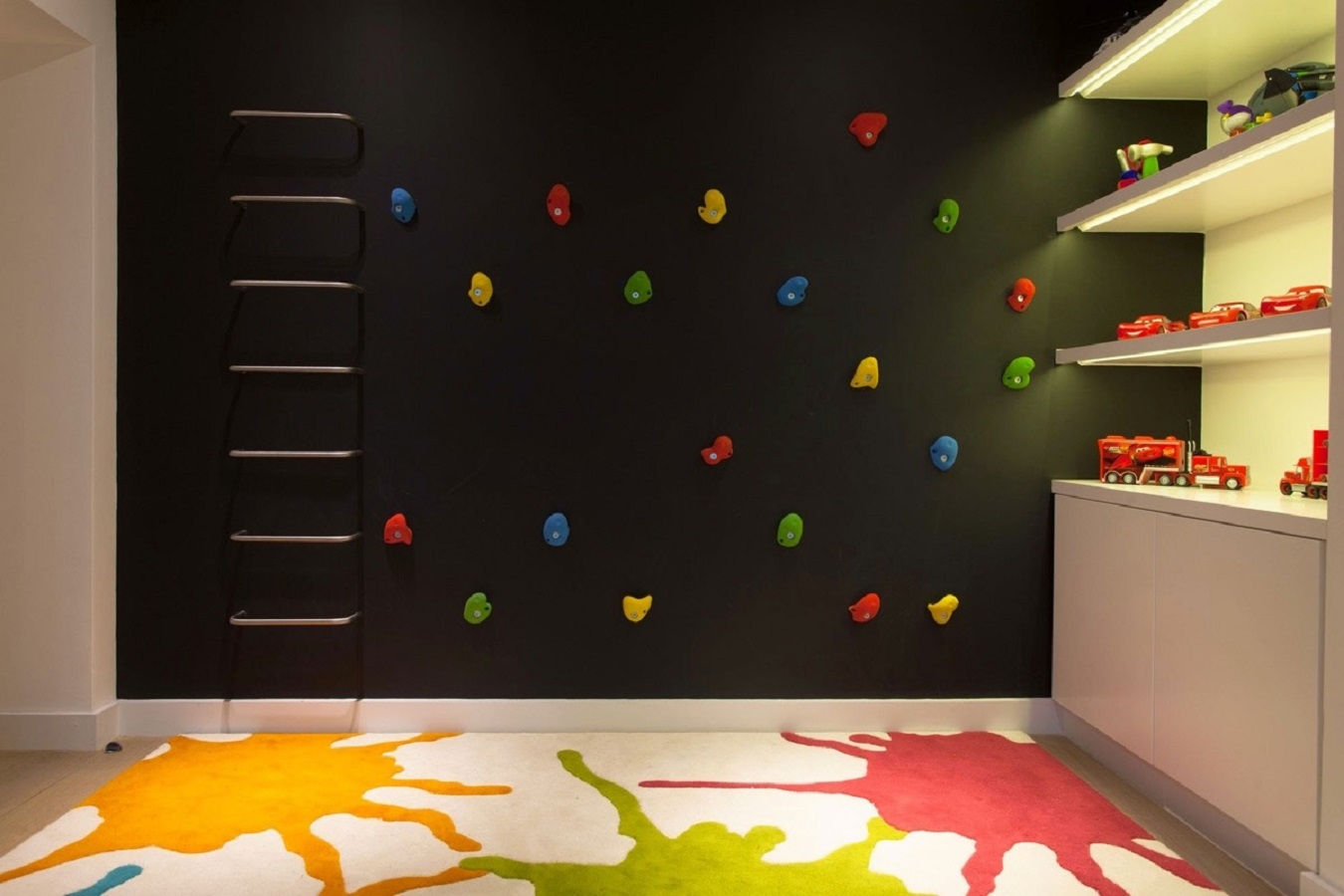 Climbing wall Funniest Kid Room Wall Decor Ideas To Create Big Creative Fresh Canvases