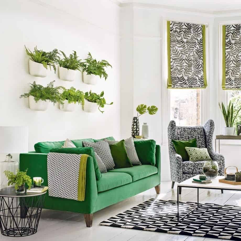 Hanging wall Revitalizing Room Aura With Captivating Greenery Decoration Ideas To Clean The Air