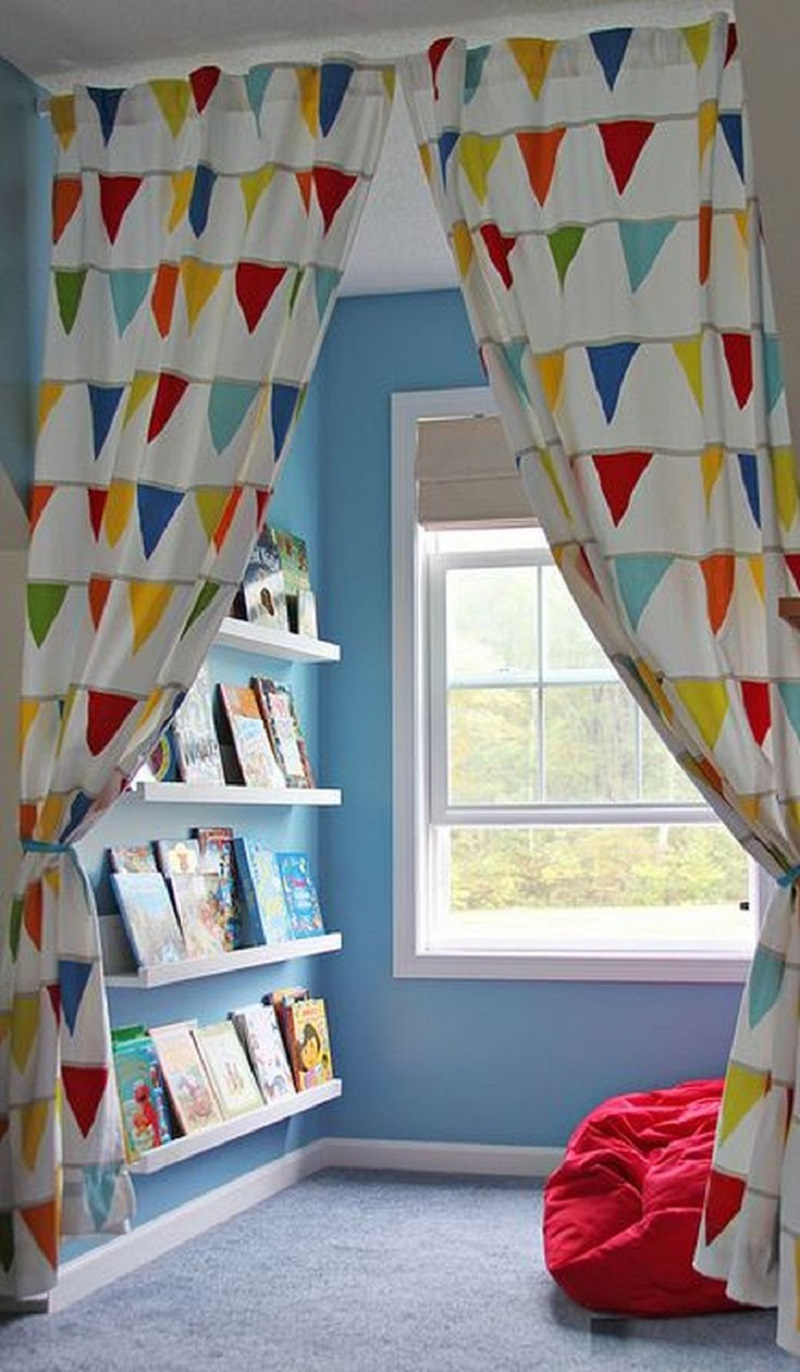 Spot with view Entertaining Reading Nook For Your Kids To Enjoy The Wonderful Knowledge From Books