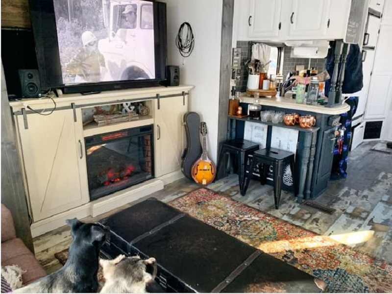 Tiny home on wheels that looks nice for a couple and three dogs 2
