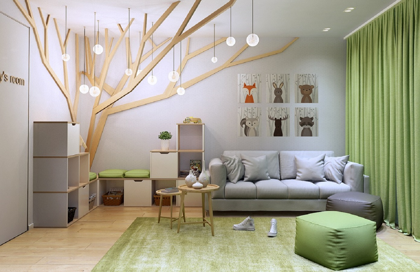 Tree themed wall bedroom Funniest Kid Room Wall Decor Ideas To Create Big Creative Fresh Canvases