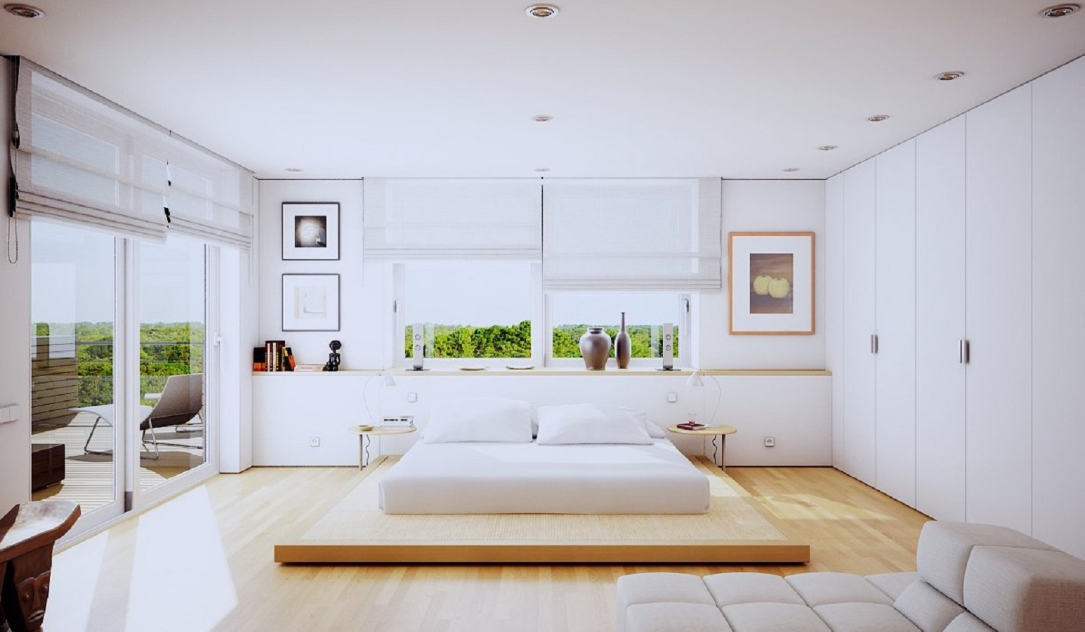 Complete minimalist Charismatic Minimalist Bedroom Ideas That Low On Clutter But Big On Style