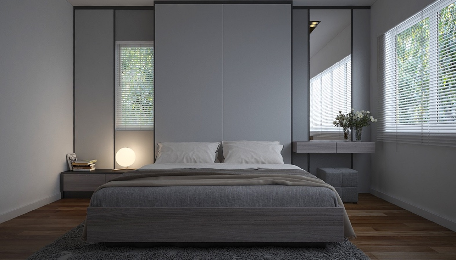Greyscale bedroom Charismatic Minimalist Bedroom Ideas That Low On Clutter But Big On Style
