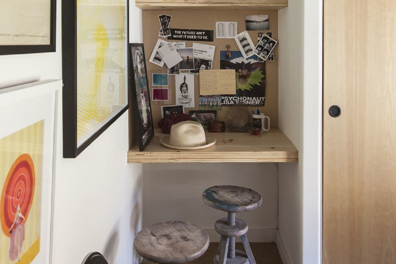 Odd corner in a tiny home office Ultramodern Wall Niches That Serve You An Extra Bonus For Square Footage