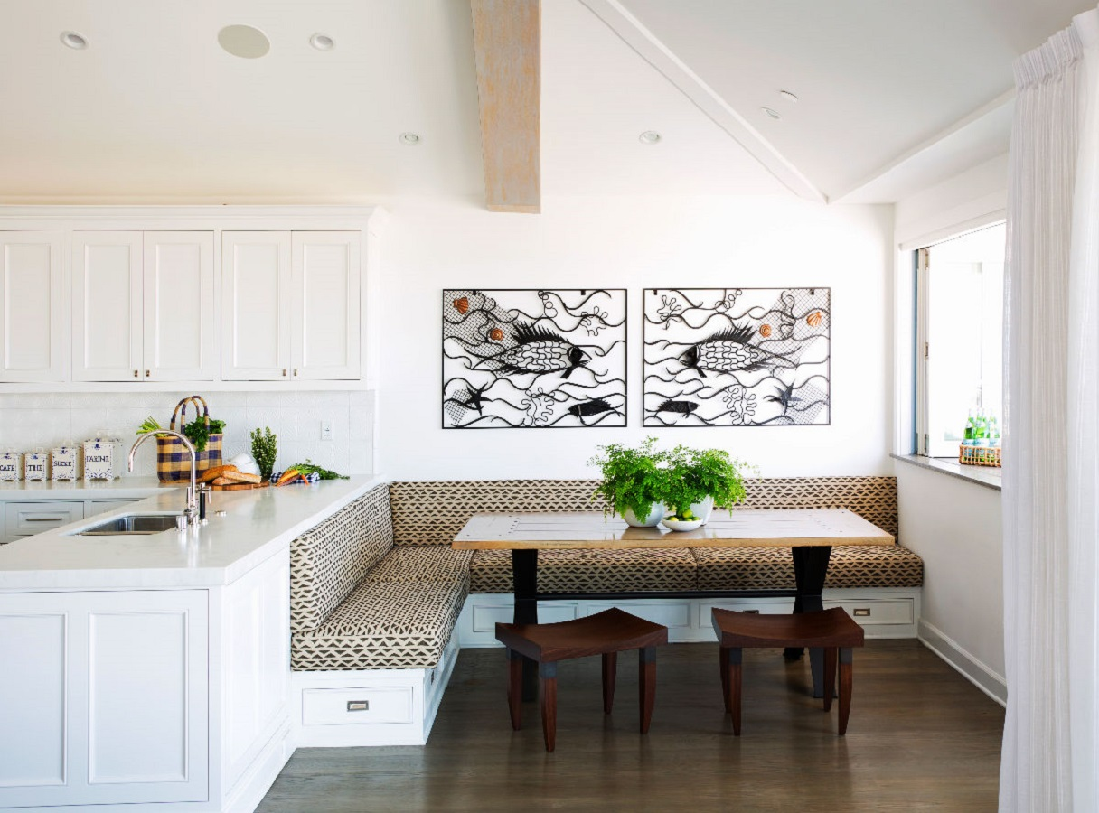 Truly modern breakfast nook Most-Wanted Breakfast Nook Ideas That Add Charm To Your Kitchen