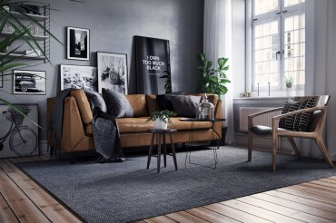 Grey-black-and-brown-living-room