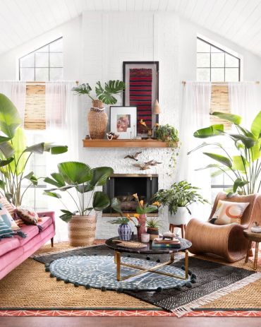 How-to-decorate-in-bohemian-style-layer-rugs