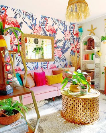 How-to-decorate-in-bohemian-style-make-a-statement-with-wallpaper