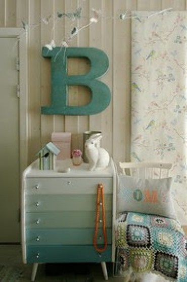 Decorated-paper-mache-letters