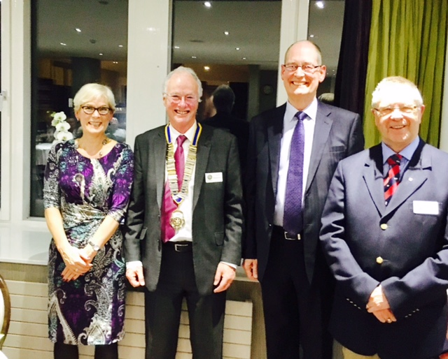 The Former High Sheriff of West Yorkshire, Ed Anderson with wife Heather, president Scott Wostenholme and Deputy Lord-Lieutenant Mike Fox