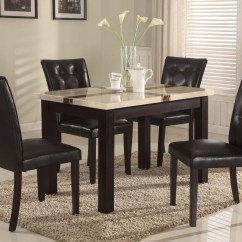 Marble Top Table With 4 Chairs Solid Gold Chair 5pc Faux Dining Set And 5 Piece Round