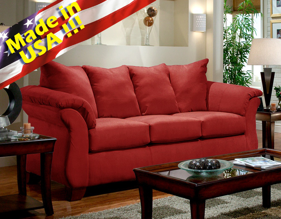 crawford futon sofa bed with storage chaise longue vilasund red microfiber elegant convertible sectional w ...