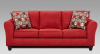 red microfiber fabric living room - 28 images - flash ...