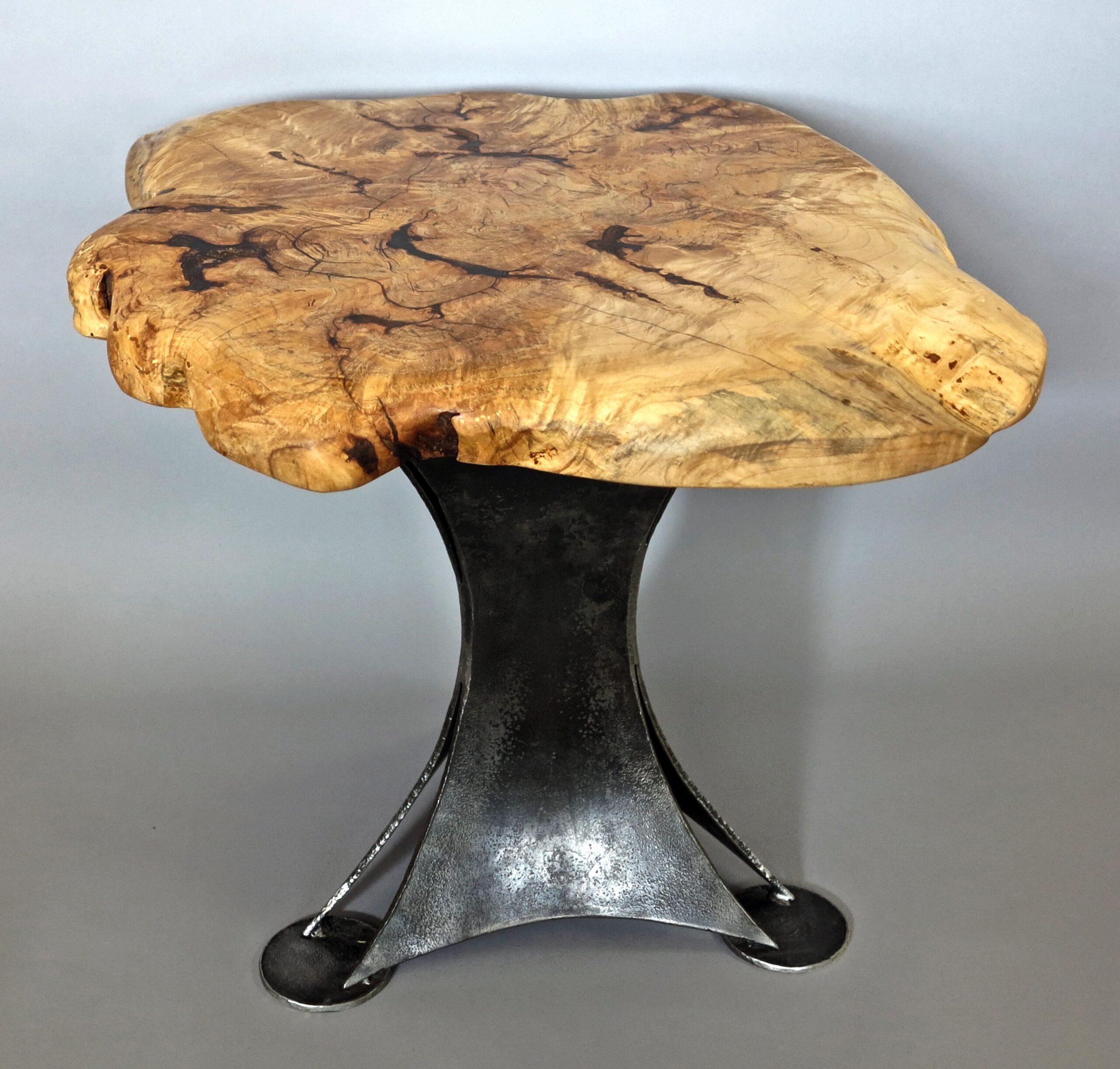 Forged toad stool mushroom table