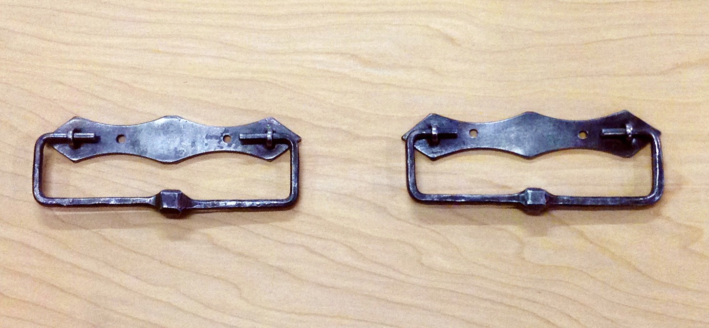 Forged iron cabinet pulls