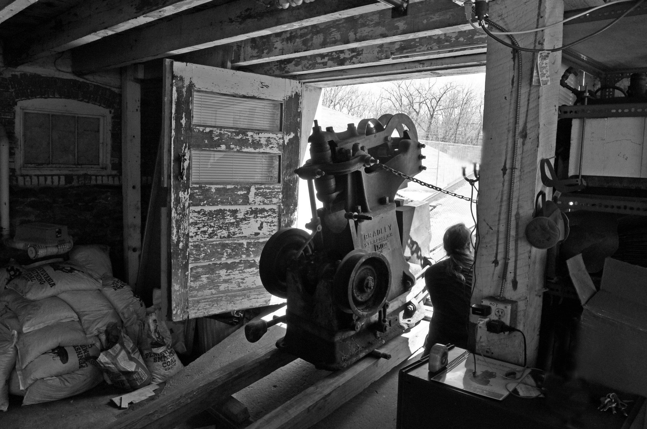 blacksmith power hammer bradley upright strap