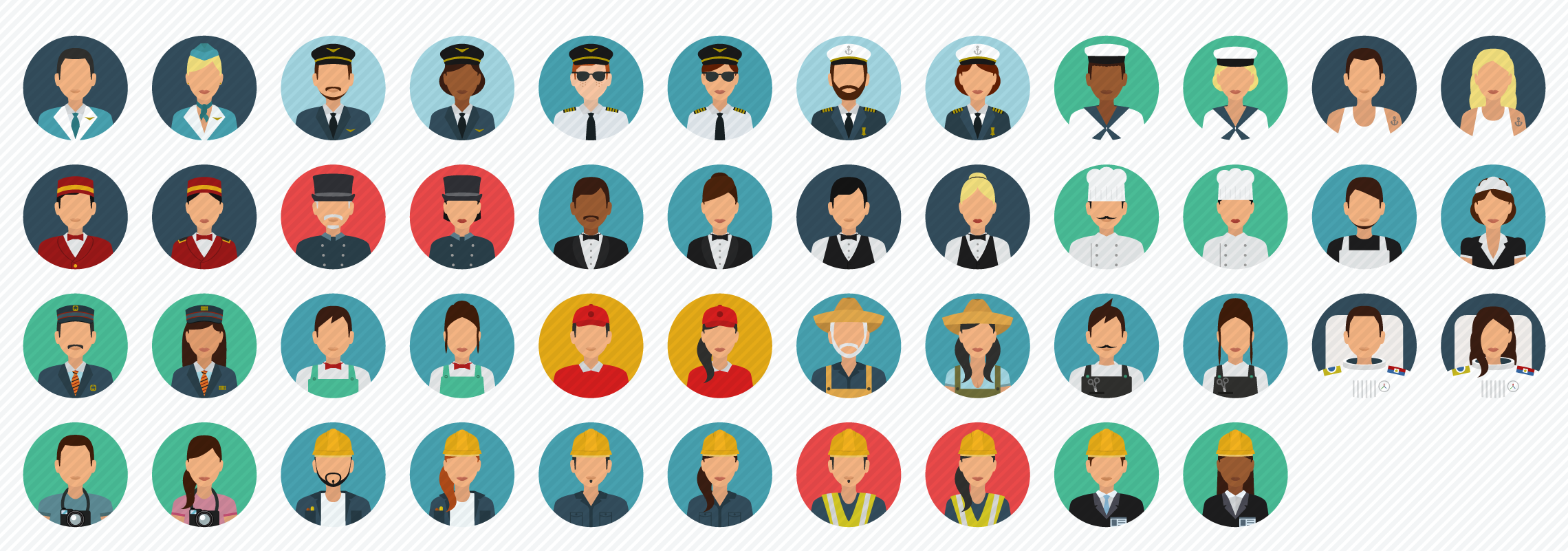 Avatars_Services flat icons