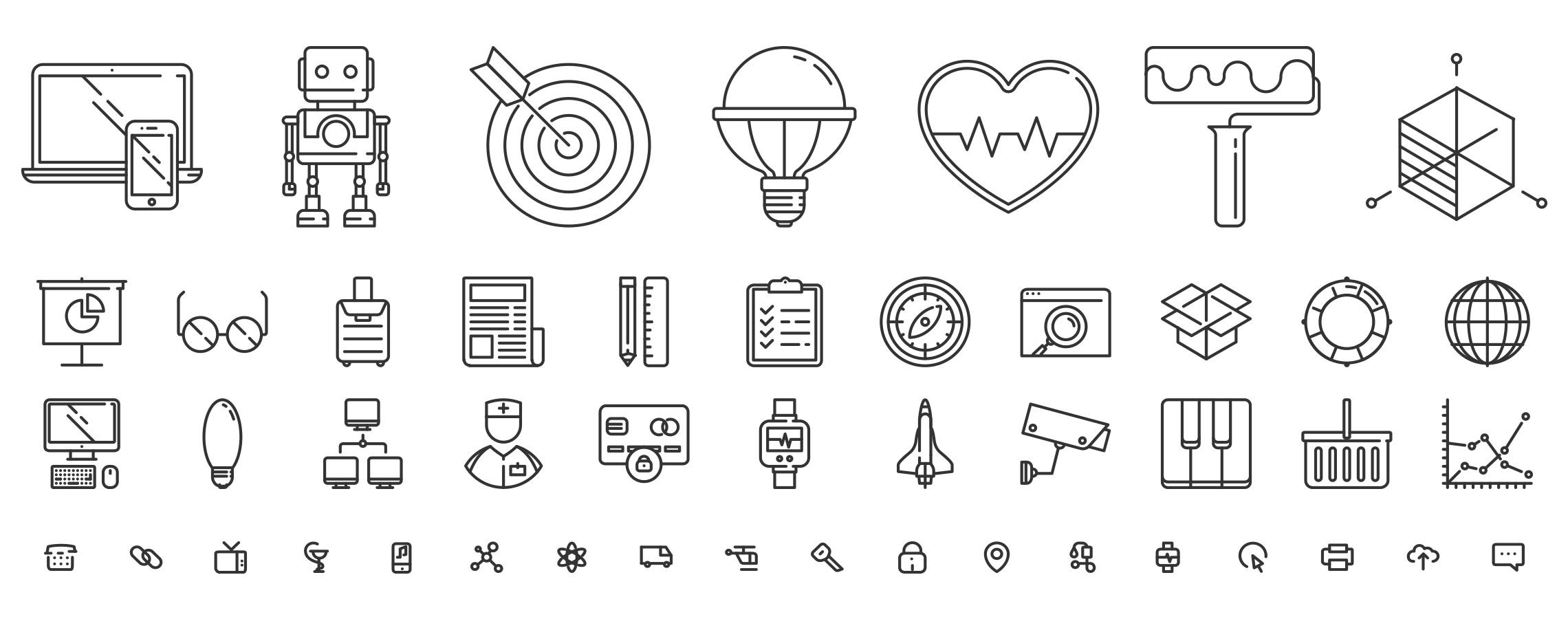responsive icons vectors