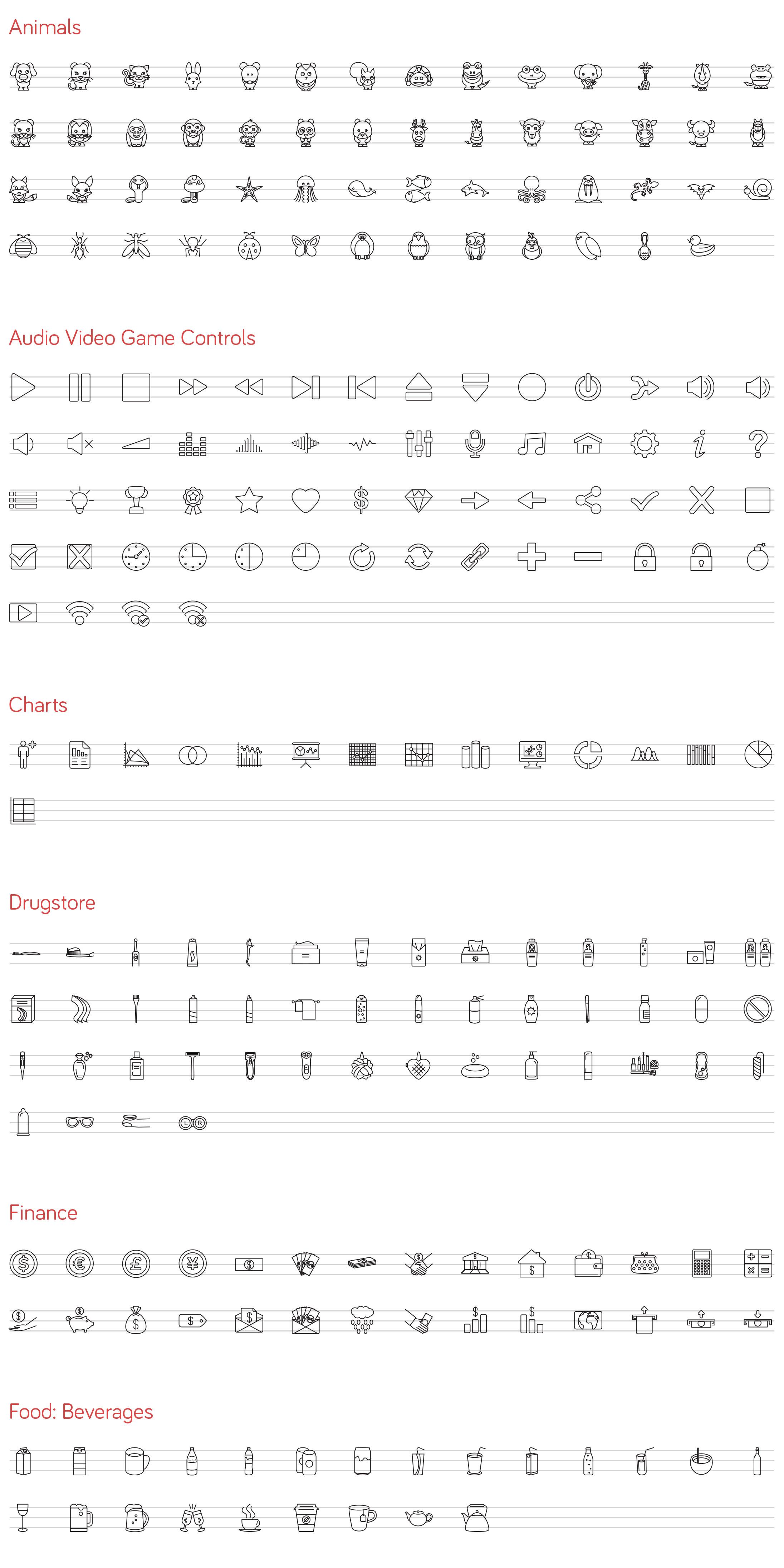 iOS 8 line icons