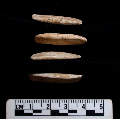 Bone objects - image by M. Gamble with the kind permission of Manx National Heritage