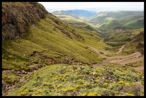 The Sani Pass road