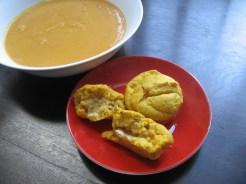 Savoury pumpkin muffins and pumpkin soup