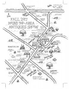 Round Top Antiques Show Map