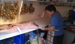 Shaun butchering a pig
