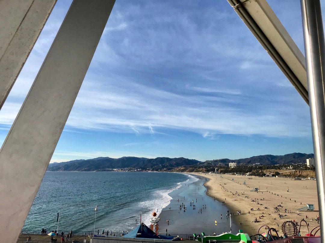 Santa Monica Ferris Wheel View Ocean California Los Angeles