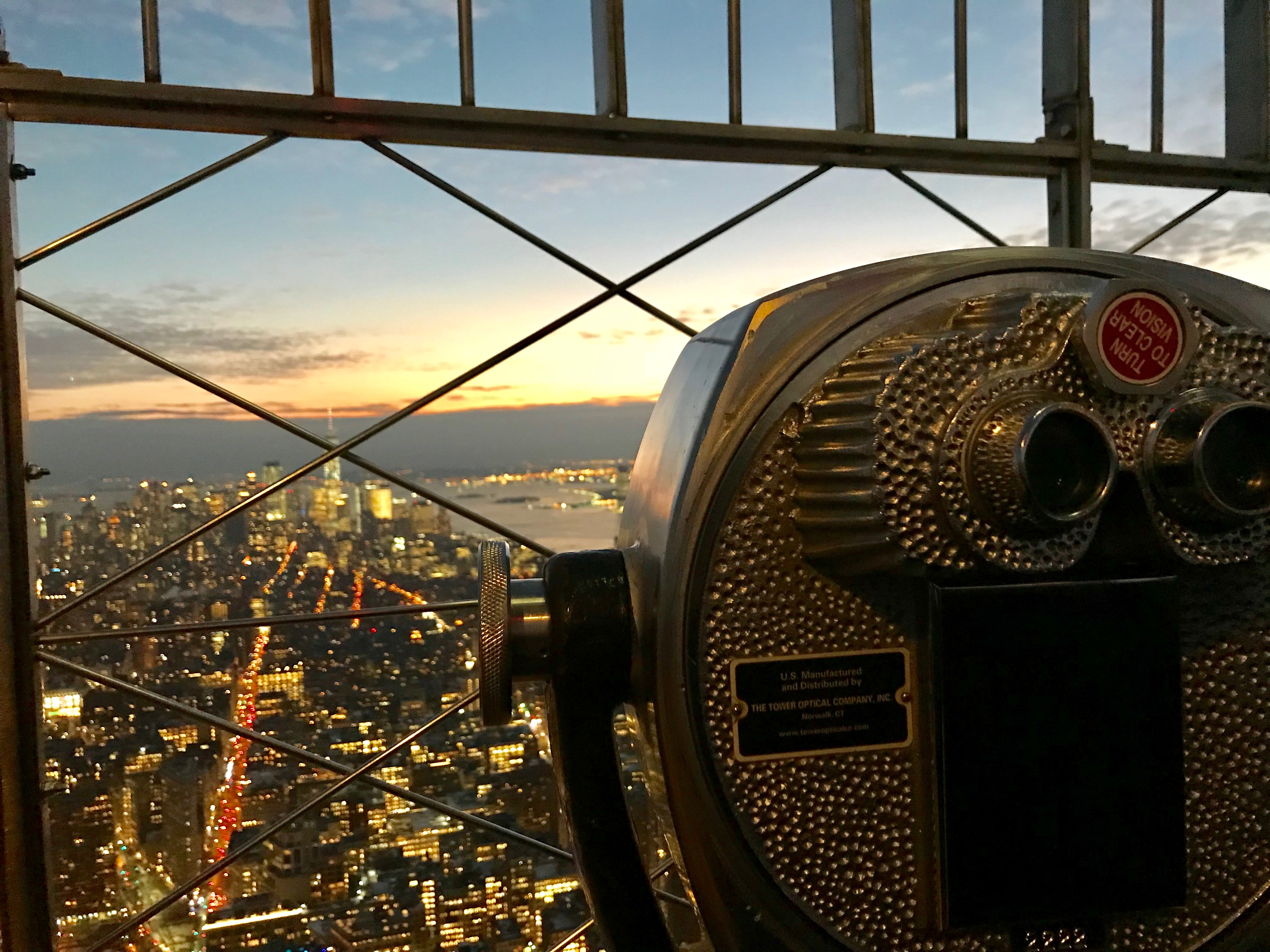 Empire State Building Observatation Deck NYC