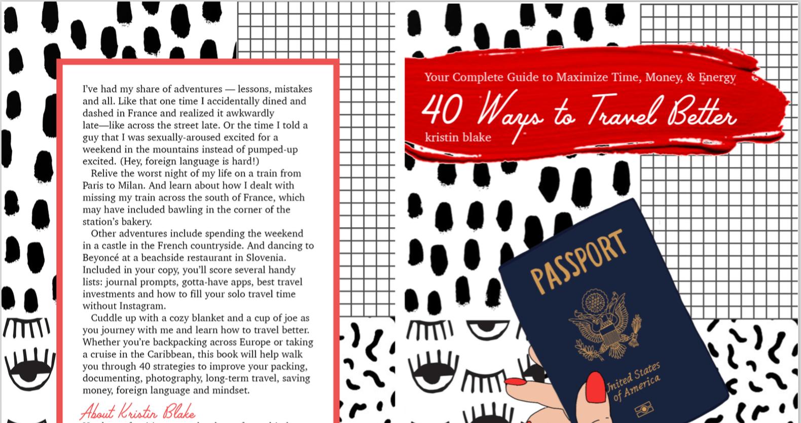 40 Ways to Travel Better Cover Catherine Reifschneider