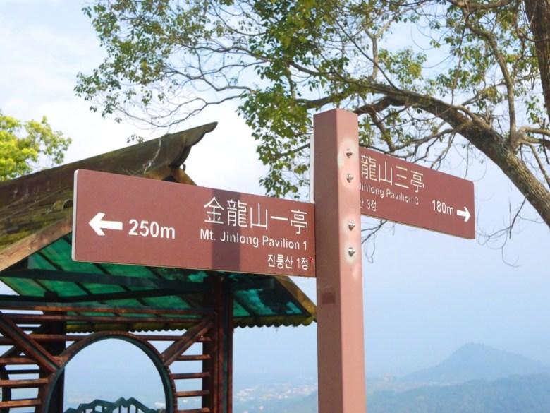 金龍山一亭250公尺 | 金龍山三亭180公尺 | 第二觀景台 | 金龍山二亭 | 遠眺魚池富士山 | Yuchi | Nantou | Wafu Taiwan | RoundtripJp