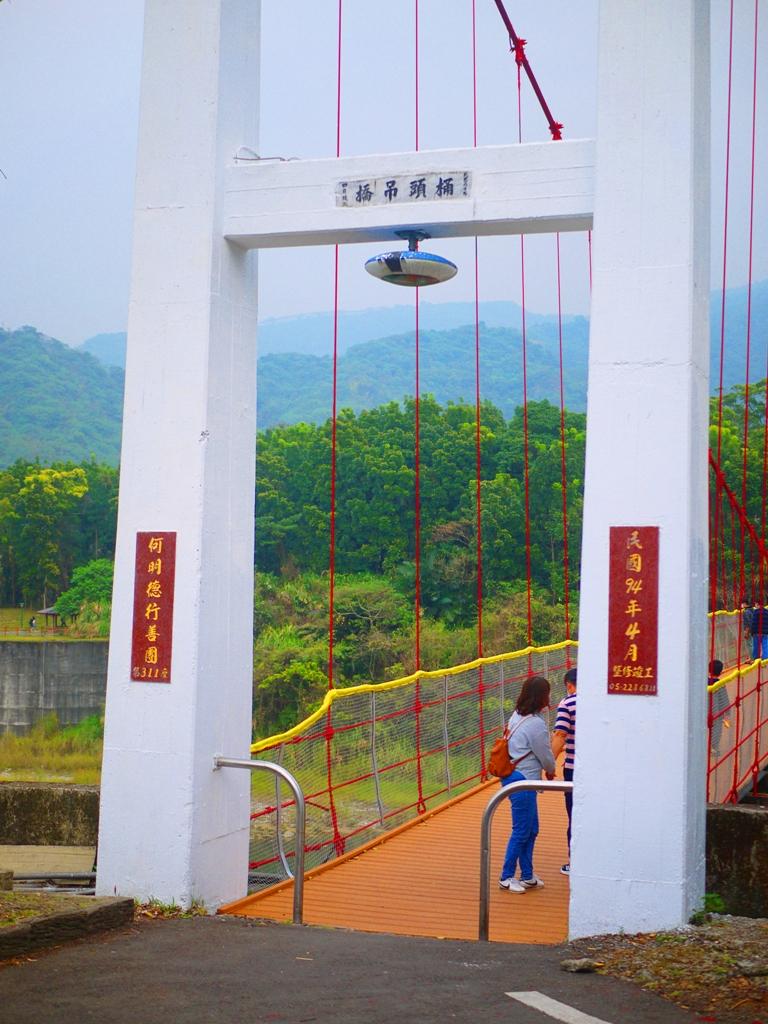 桶頭吊橋入口   Suspension bridge   群山環繞   青山碧水   台灣旅人   竹山   南投   和風巡禮   RoundtripJp
