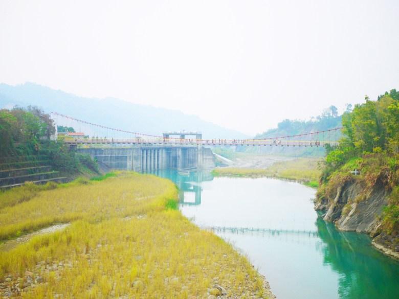 遠眺桶頭吊橋   桶頭攔河堰   清水溪   絕美青い溪流   日本味   Takeyama   Zhushan   Nantou   巡日旅行攝
