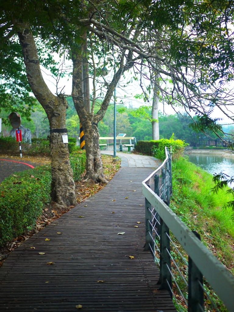 環埤步道 | 人行道與車道 | 盡情欣賞水庫之美 | 虎頭埤風景區內 | 新化 | 台南 | 巡日旅行攝