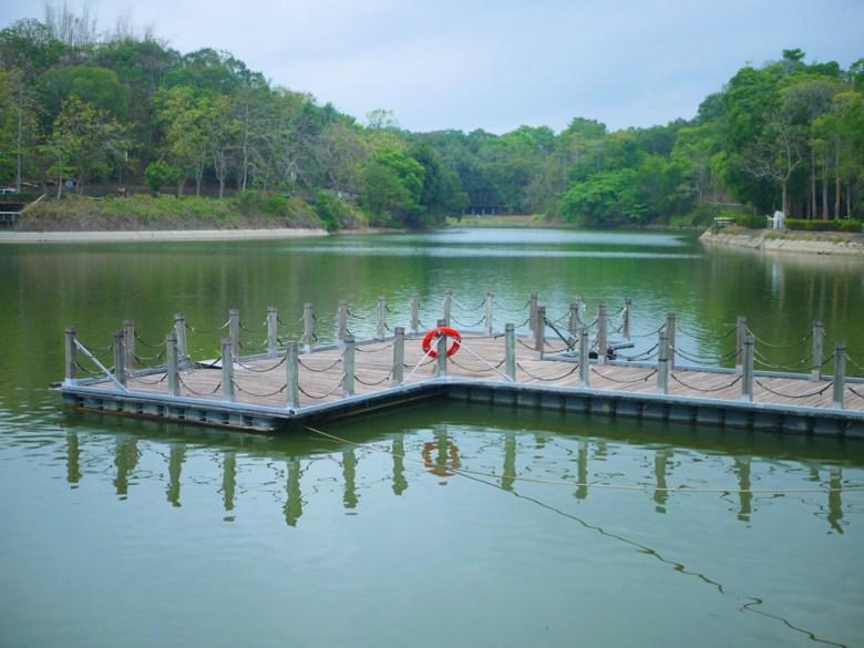 虎頭埤第二碼頭 | 清新自然的翠綠色湖面 | 虎頭埤風景區內 | 新化 | 台南 | 巡日旅行攝