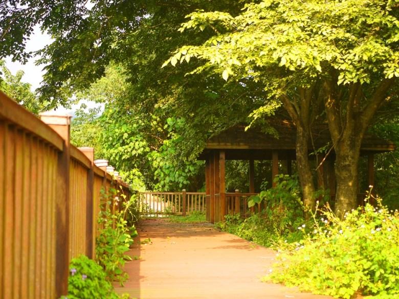 吊橋入口旁涼亭 | 可從另一個角度欣賞絕美的最長吊橋 | Caotun | Nantou | Wafu Taiwan | 巡日旅行攝 | RoundtripJp