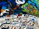 """""""Happy New Year My Flying Dream"""" Acrylic on canvas, 36 x 24"""""""