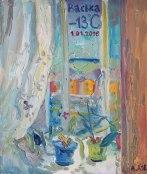 """January 1"" 2016. Oil on cardboard, 35 x 40 cm"