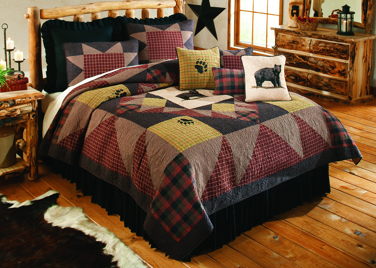 Rustin Home Decor - Bears Paw Bedding Set