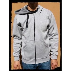 casaco hoodie cinza