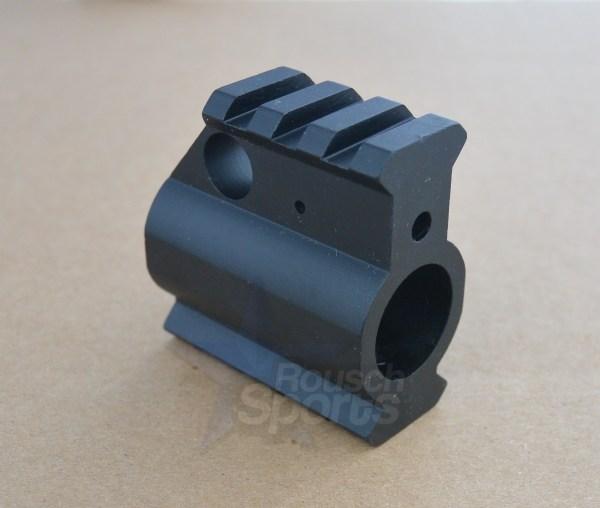 AR15 Rail Height 2 Rail Gas Block Flush Mount Picatinny Quad Rail Height Gas Block + Roll Pin .750 Regular Profile