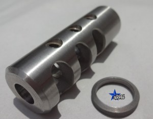 RS Stainless Steel Muzzle Brake 5.56