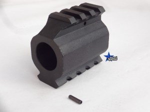 AR15 Low Profile Double Picatinny Rail Gas Block
