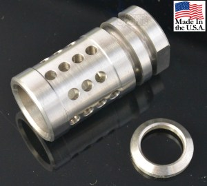 "Stainless Steel A2 Flash Hider Fox Hole Half Cage 1/2""-28 9/16""-24 5/8""-24 Best Wholesale Discount Prices AR15 M16 M4 Austin Texas USA 13"