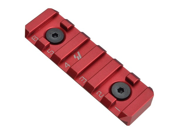 Link Rail Section 6 Slots Strike Industries Anodized Red Black AR 15 M4 M16 Best Discount Wholesale AR Parts and Accessories Austin Texas USA